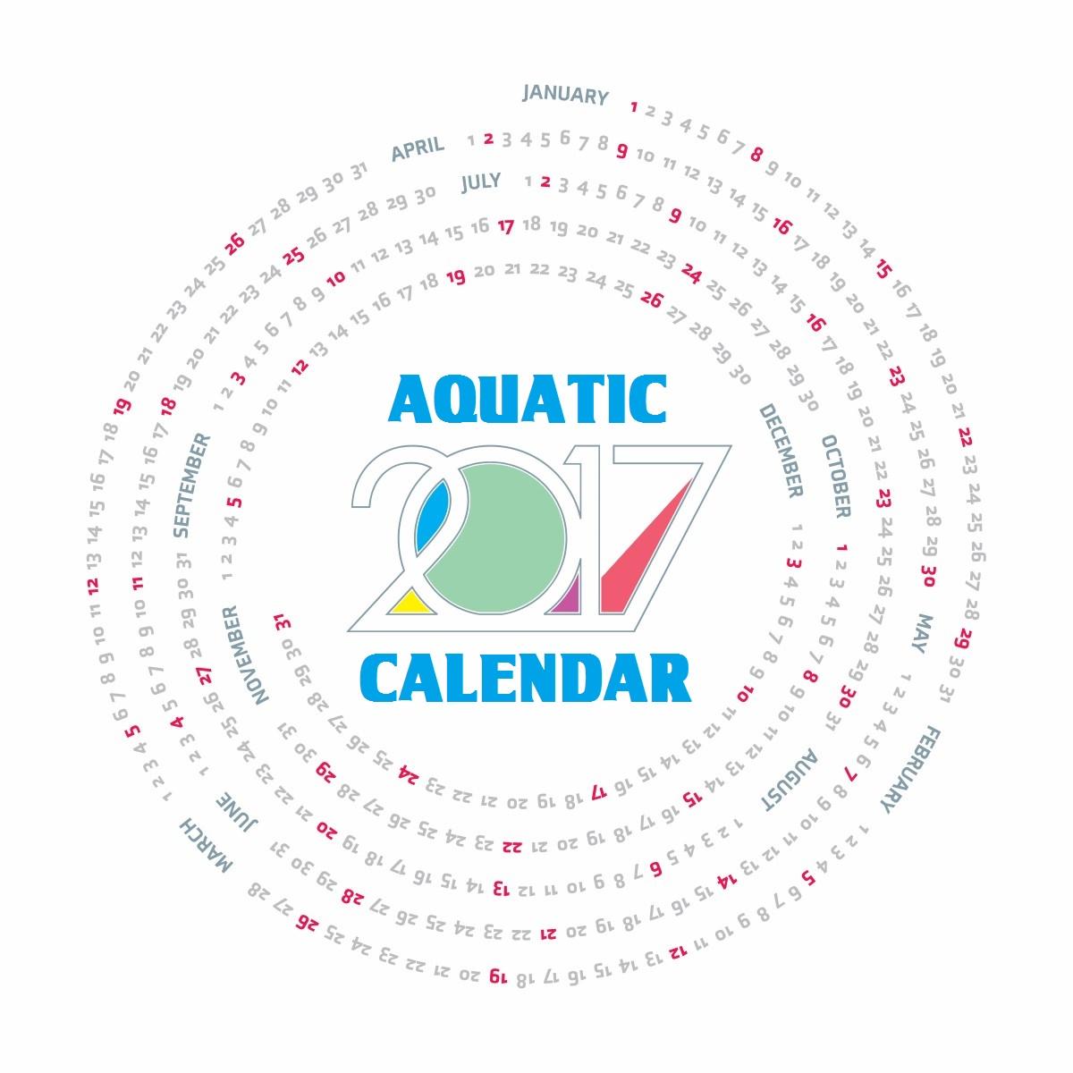 Aquatic Calendar 2017