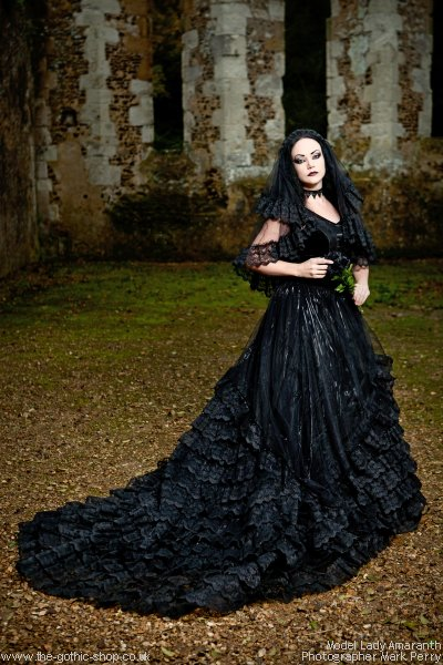 The gothic shop blog lady amaranth and the gothic wedding for Black gothic wedding dress