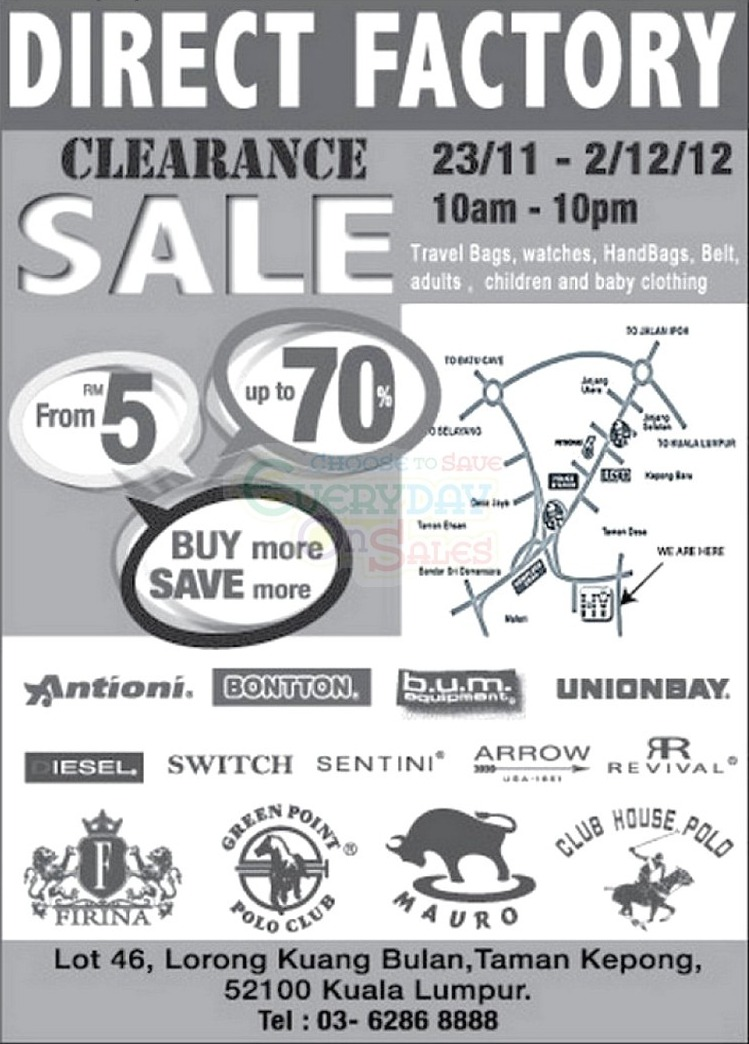 Direct Factory Clearance Sale!!!