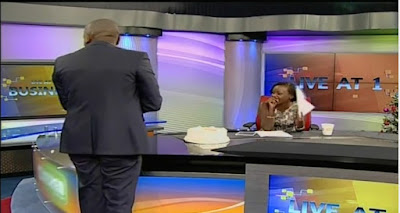 Dennis Itumbi Surprises His Girlfriend- Jacque Maribe On Live Television, Watch Her Reaction