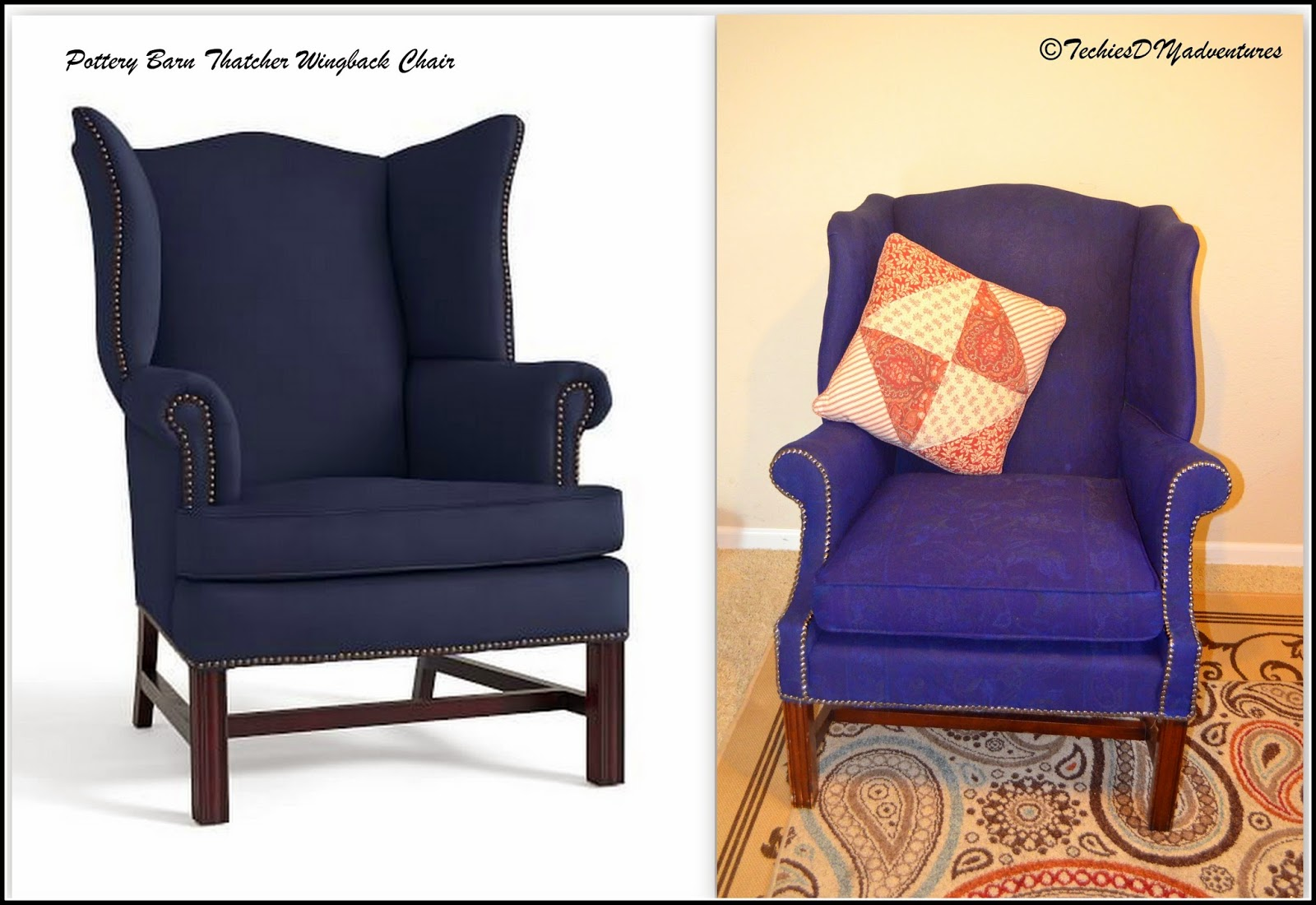 Pottery Barn Thacther wingback Chair knock off