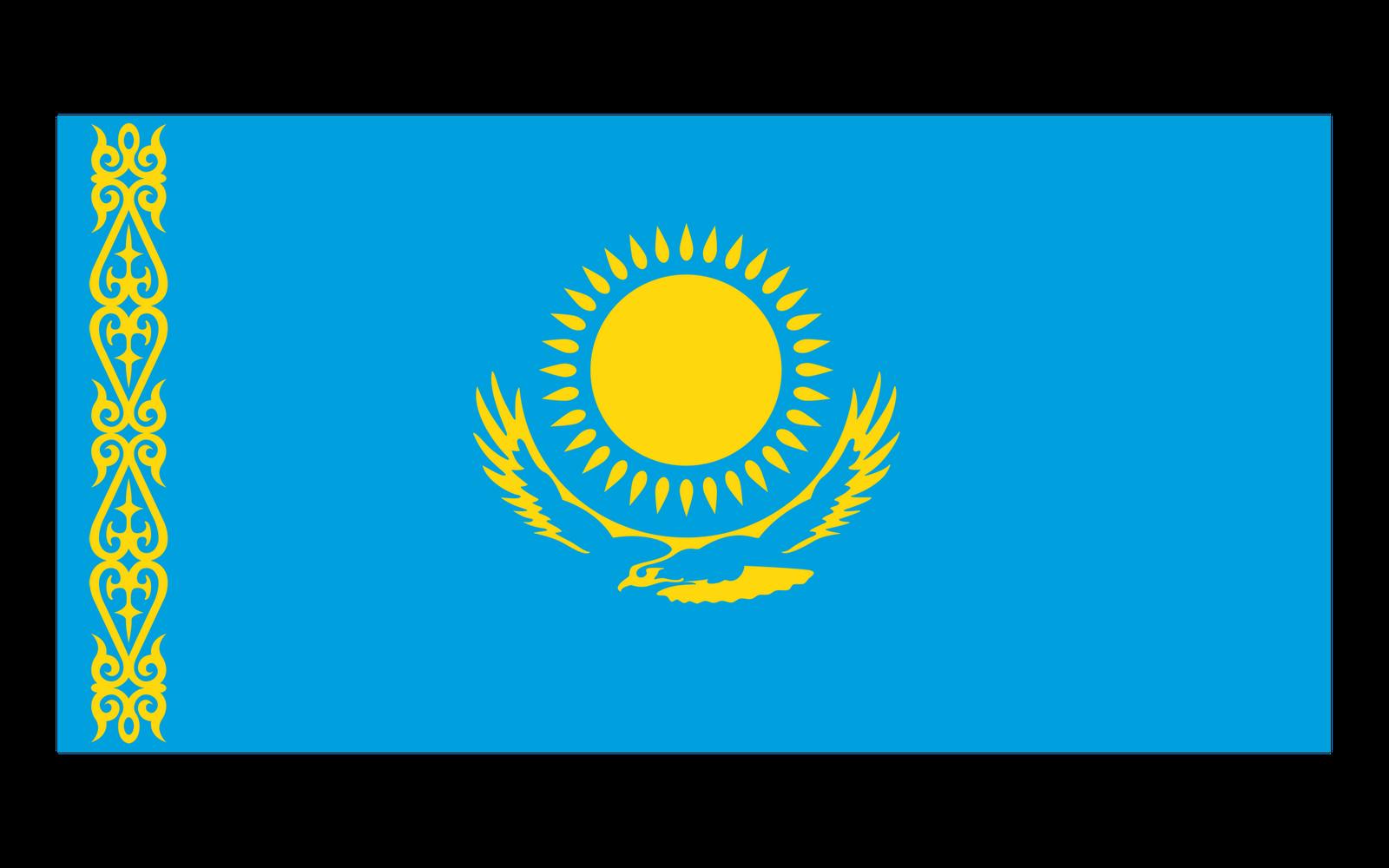 World Flags Kazakhstan Flag Hd Wallpaper