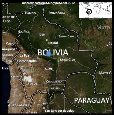 Mapa politico de Bolivia