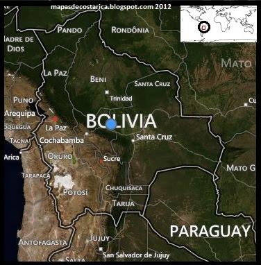 Mapa politico de Bolivia
