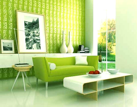New Home Design Ideas: Interior Designs Living Room With Green Walls