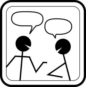 stick figures chatting