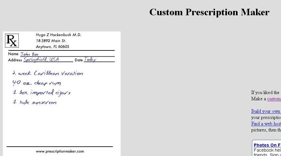 Online doctor private prescription