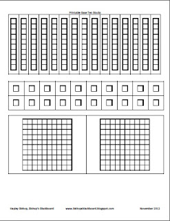 photograph relating to Base Ten Blocks Printable known as Bishops Blackboard: An Essential Instruction Website: Printable