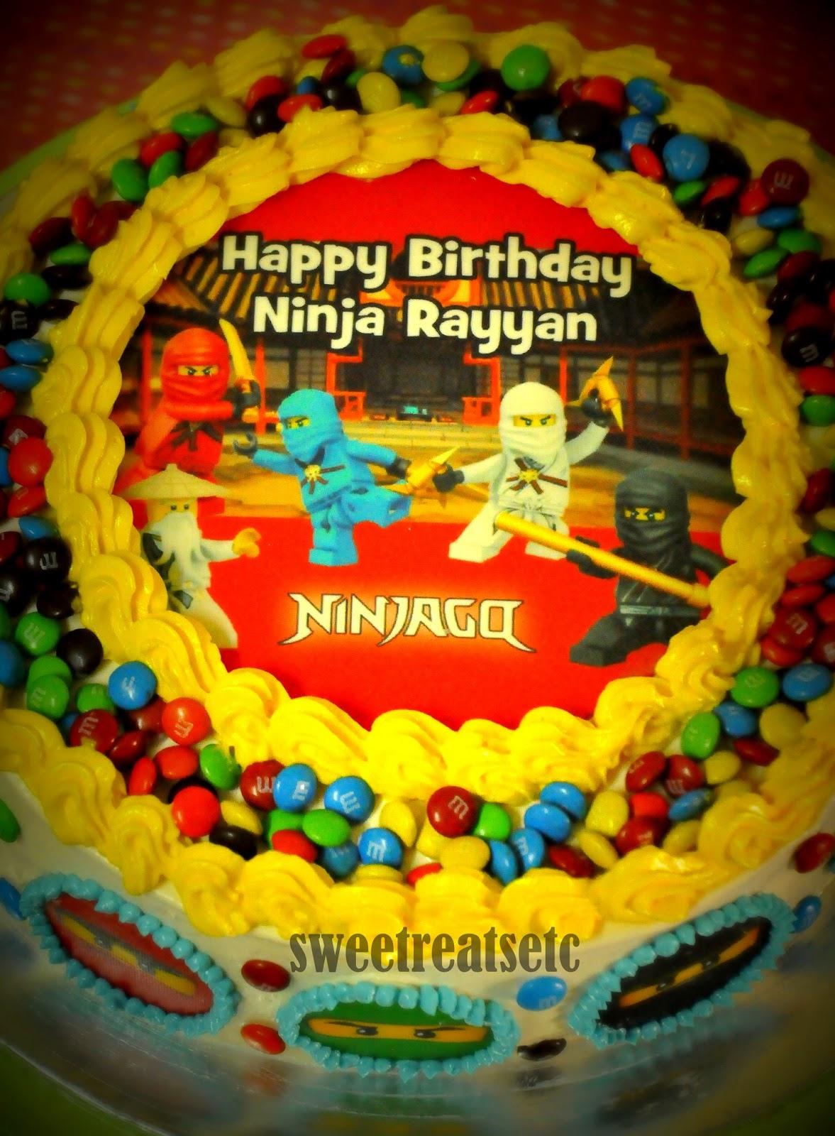 Sweetreats Etcetera Ninjago Theme Birthday Cake
