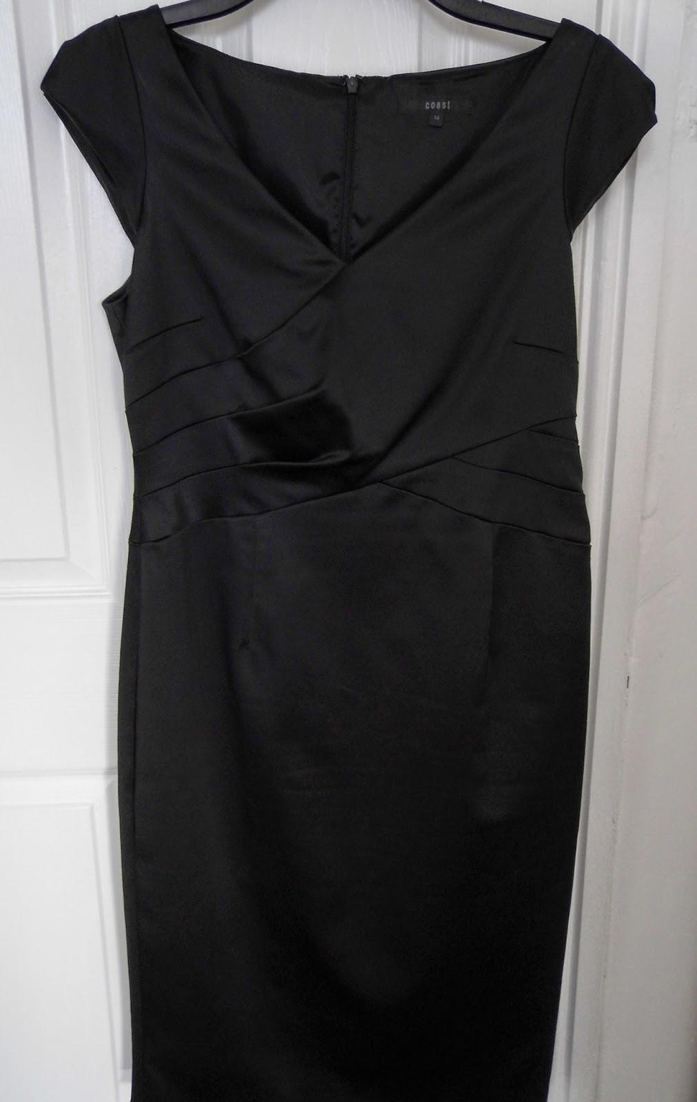 Black dress coast - Satin Black Dress By Coast