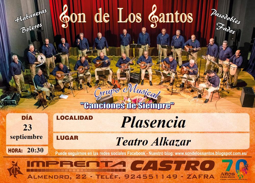 Concierto en el Teatro Alkázar de Plasenciaa 23/09/2017