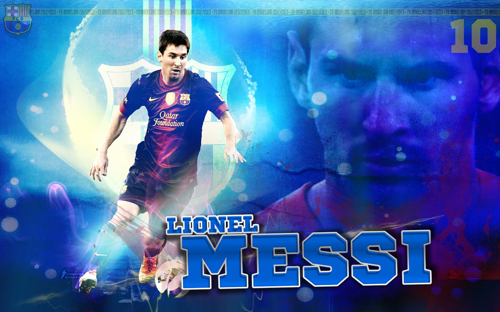 Messi Barcelona HD Wallpaper 2013