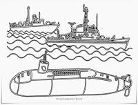 Gambar Kapal Selam Dilautan Untuk Mewarnai
