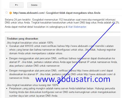 mengatasi domain blog bermasalah