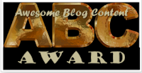 Awesome Blog Content(ABC) Award