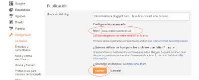 Configurar un Dominio De Piensa Solutions Para Blogger
