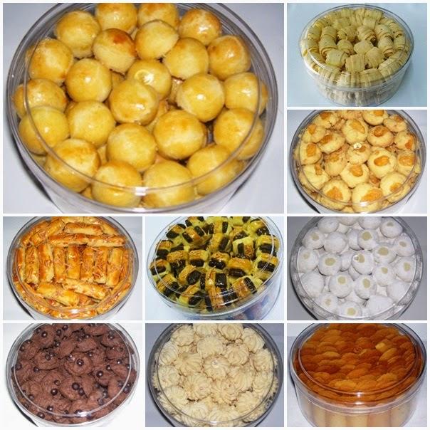 Paket Kue Lebaran isi 6 toples @250 gram harga Rp175.000,-