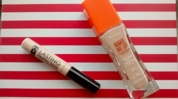 Collection Lasting Perfection Concealer and Rimmel Wake Me Up Foundation
