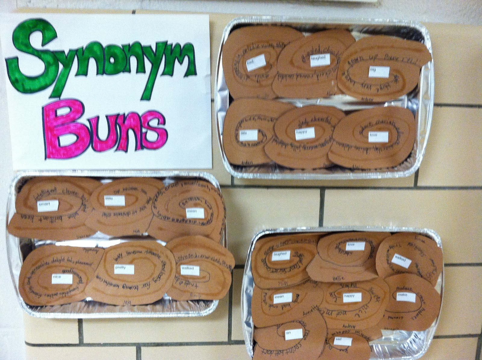 Check out the cute synonym buns antonym ants should be for Coute synonyme