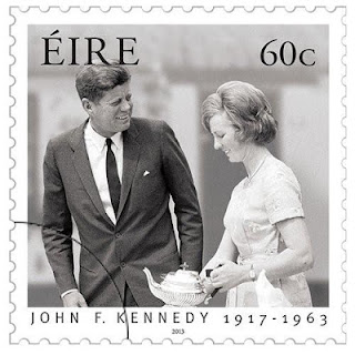 Ireland: John F. Kennedy 1917- 1963 - 60c Stamp -  http://www.irishstamps.ie/