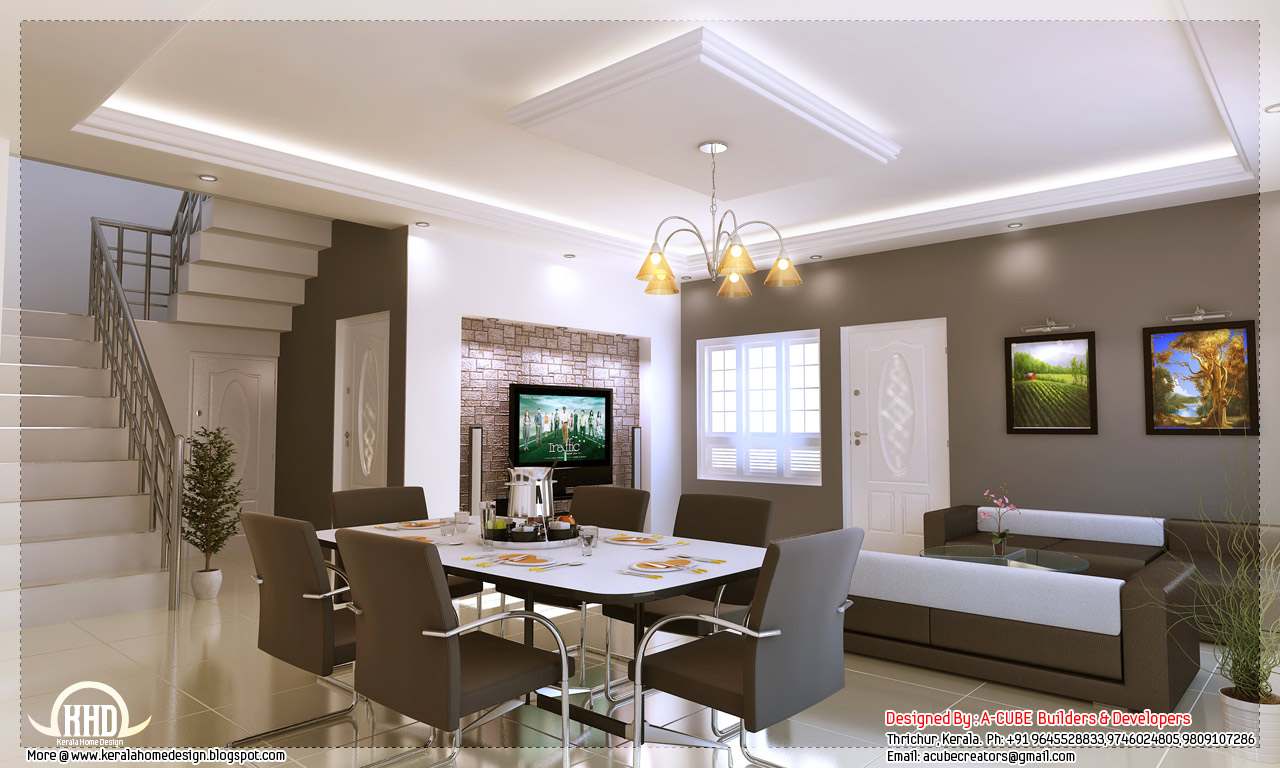Kerala style home interior designs kerala home design for Home plans with interior photos