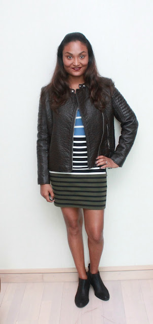 A Body-Con Dress & A Leather Jacket