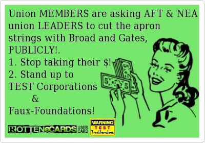 AFT/NEA Members Want Ties to Ed Deformes Cut