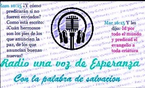 RADIO UNA VOZ DE ESPERANZA