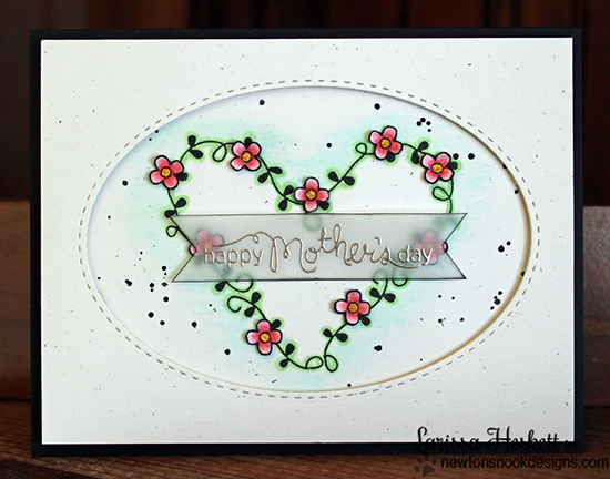 Mother's Day card by Larissa Heskett for Newton's Nook Designs | Love Grows