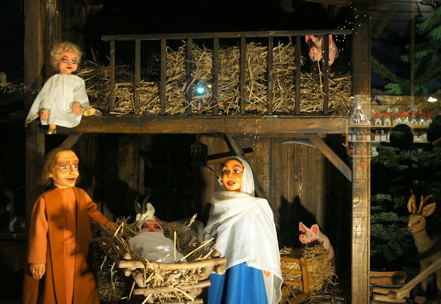 Nativity scene at Neumarkt Christmas Market, Cologne