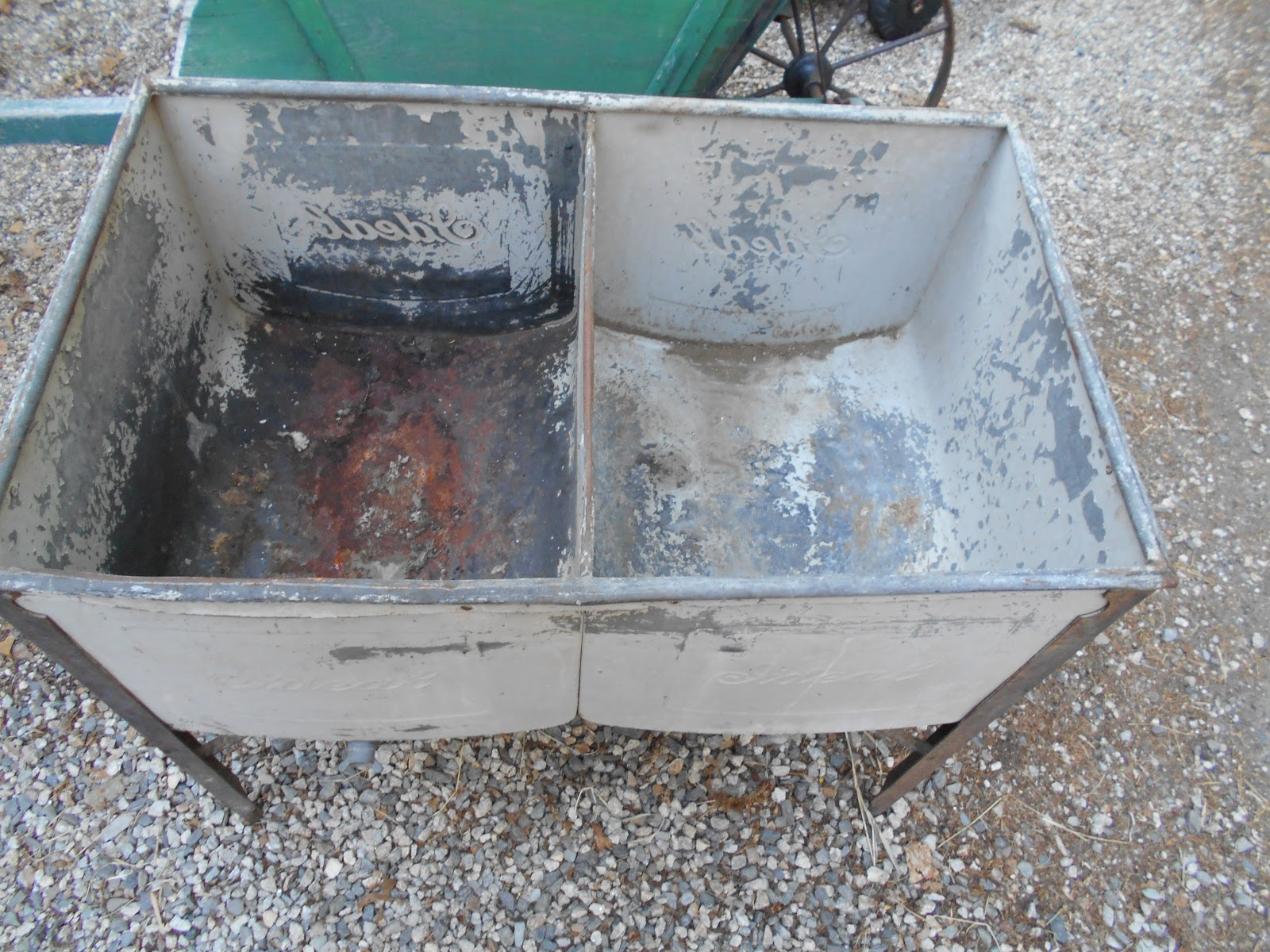 Double Wash Tub With Stand : Log Cabin Antiques & Gifts: Ideal double wash tubs on stand