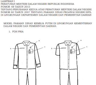 gambar seragam PDH PNS terbaru