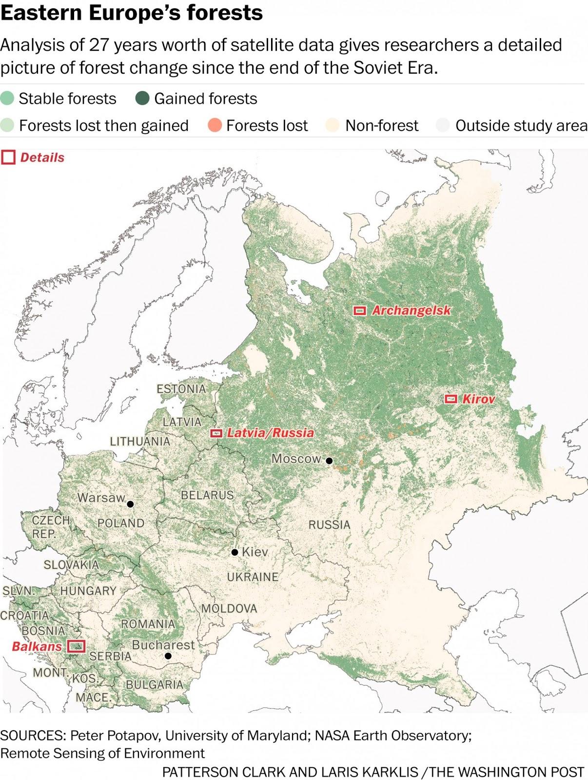 Леса в Восточное Европе