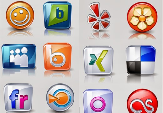 High detail social icons