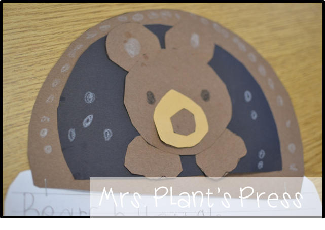 The mitten primary press for Hibernation crafts for preschool