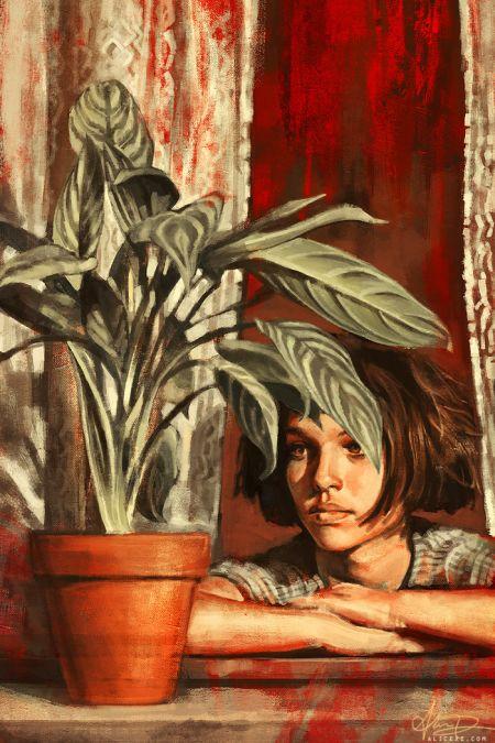 Alice X. Zhang alicexz deviantart pinturas de filmes séries Natalie Portman em O Profissional (Léon)