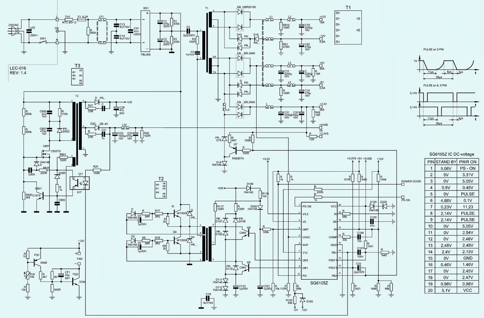 Kob ap xa w atx power supply schematic