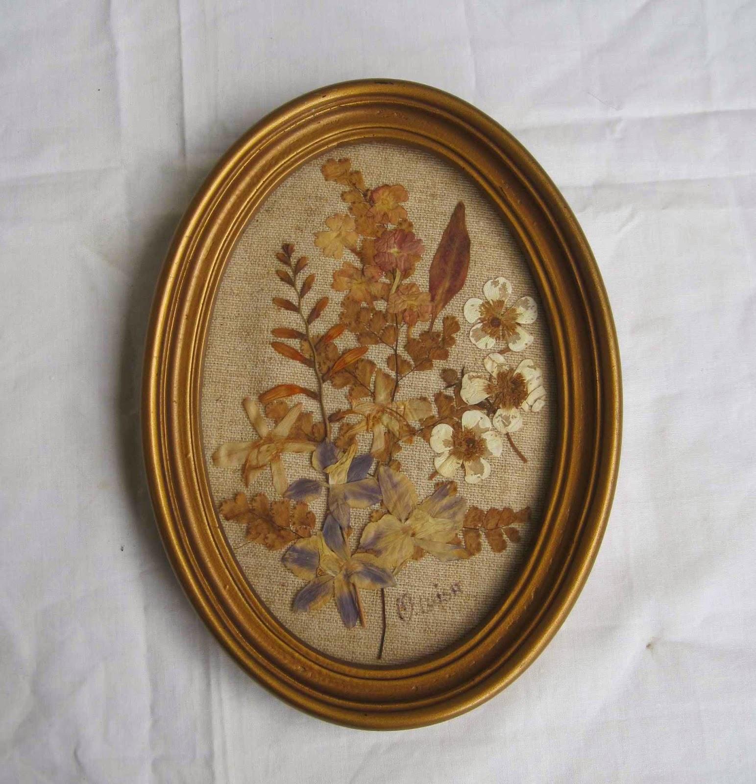 Fotos De Cuadros Hechos Con Flores Secas - Cuadro hecho con flores secas Las Manualidades