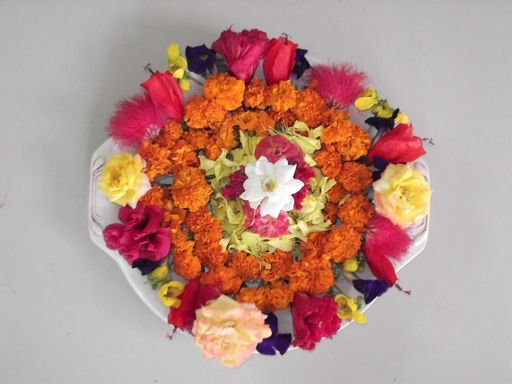 Dews the school panchkula pooja thali decoration for Aarti thali decoration competition