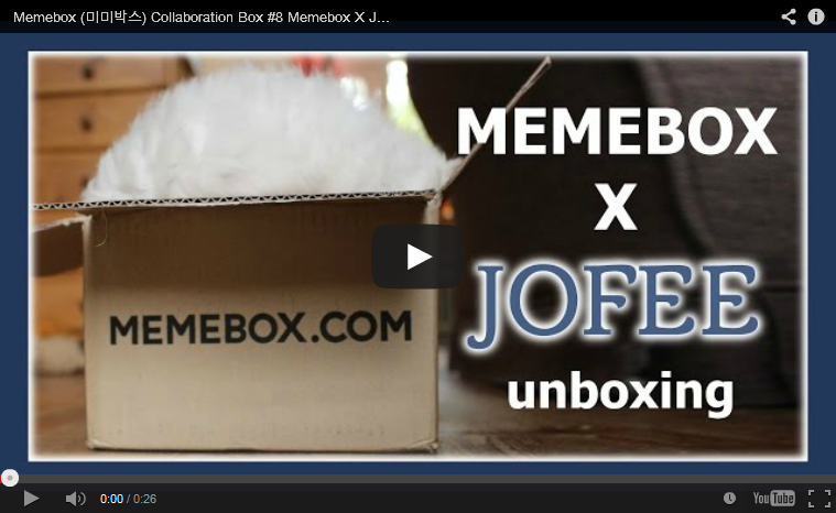 Memebox Superbox Collaboration Box #8 Memebox X Jofee 미미박스 Commercial new 2