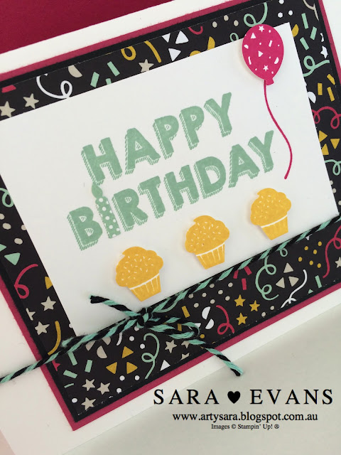 Sara Evans - Stampin' Up! Its My Party Card