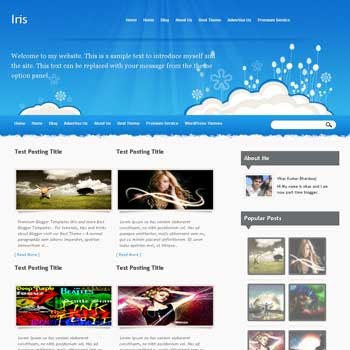Iris template blog. convert wordpress theme to blogger template. template blog from wordpress theme. template blog content slider. magazine style blogger template