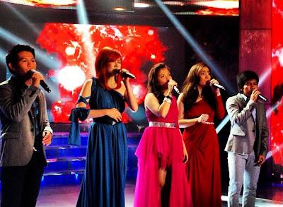 KZ Tandingan performed with ASAP Pinoy Champs Marcelito, Yeng, Angeline and Jovit