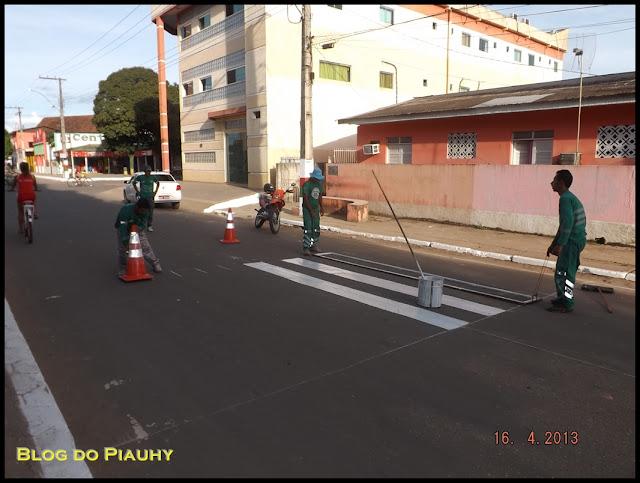 Tarauacá: parceria entre Detran e Prefeitura garante sinalização das vias