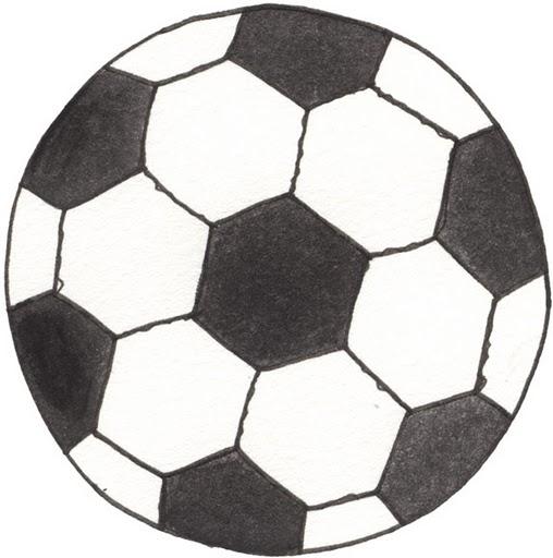 Dibujo de Pelota de fútbol para Colorear Dibujos