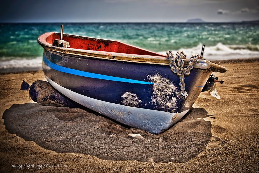 bolnuevo, barca, playa, mazarron