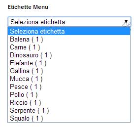 creare un menù a tendina usando le etichette blogspot