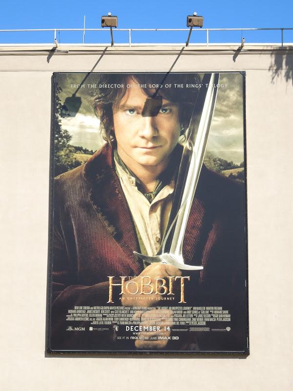 Hobbit An Unexpected Journey movie billboard