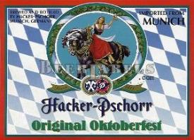 Hacker-Pschorr Oktoberfest beer label