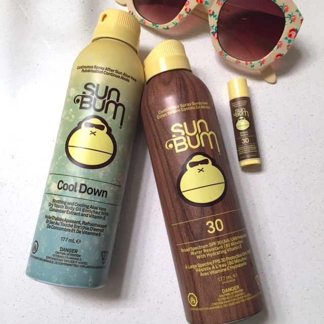 Sun Bum SPF 30 Original Spray Sunscreen and Cool Down After Care: A quick review